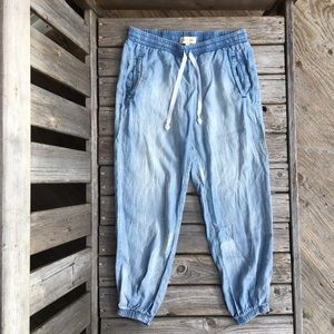 cloth & stone 💯% Tencel Relaxed Chambray Pants
